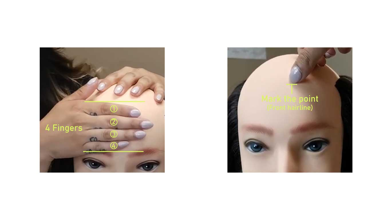 Find and mark your hairline